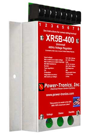 XR5B-400 Power-Tronics Universal Voltage Regulator for 400 Hz